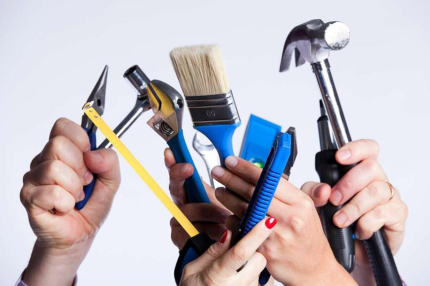 Hands with tools (R) (S)
